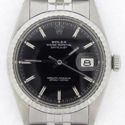 Mens Rolex Stainless Steel Datejust Black  1603