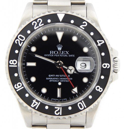 Rolex Stainless Steel GMT Master II 16710 Black -1