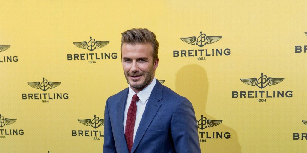 Beckham's Breitling Boutique Opening Outfit