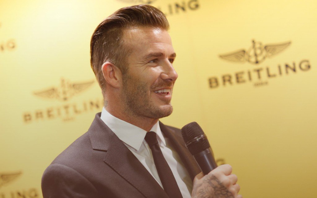 Post image for David Beckham Gets Dolled up for Breitling Opening