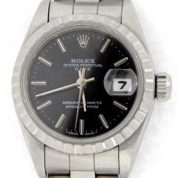 Ladies Rolex Stainless Steel Date Black  69240 (SKU W6822010MT)