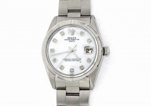 Rolex Stainless Steel Date 1501 White MOP Diamond-9