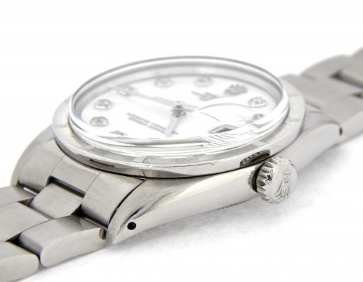 Rolex Stainless Steel Date 1501 White MOP Diamond-5