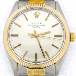 Mens Rolex Two-Tone 14K/SS Air-King Silver  5501 (SKU 7303086CMT)