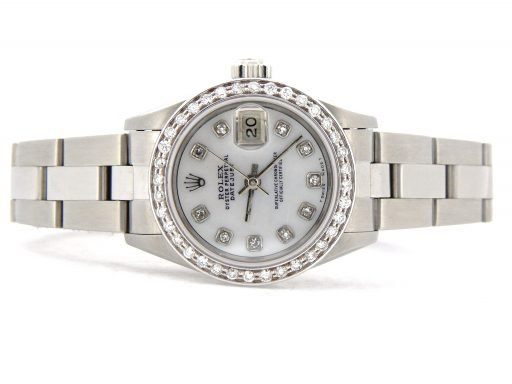 Rolex Stainless Steel Datejust 69174 White MOP Diamond-8