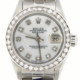 Ladies Rolex Stainless Steel Datejust White MOP Diamond (SKU E317948MT)