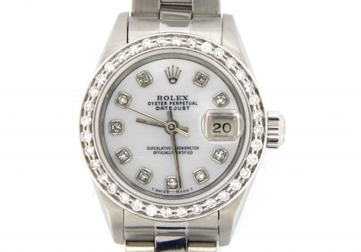 Rolex Stainless Steel Datejust 69174 White MOP Diamond-1