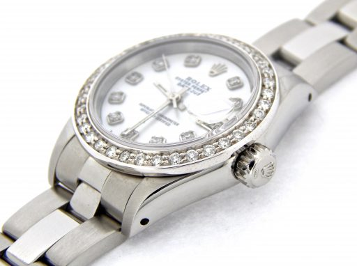 Rolex Stainless Steel Datejust 69174 White MOP Diamond-6