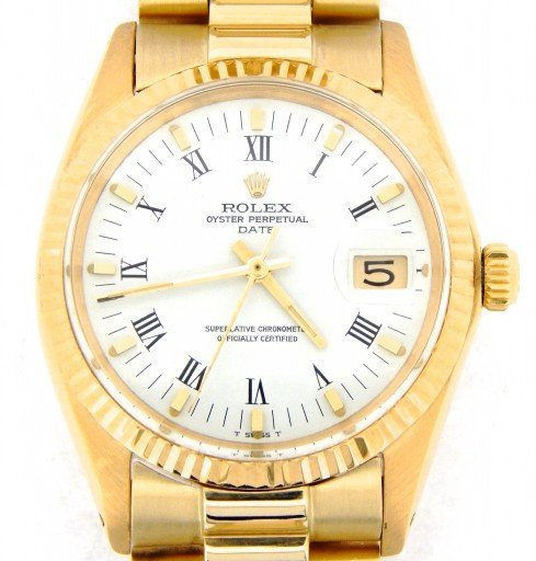 Rolex 14K Yellow Gold Date 1503 White Roman-1