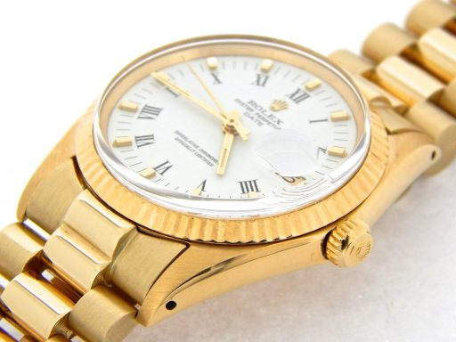 Rolex 14K Yellow Gold Date 1503 White Roman-6
