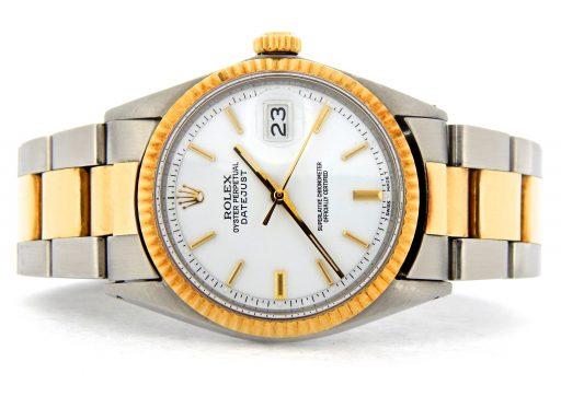 Rolex Two-Tone Datejust 1601 White -9