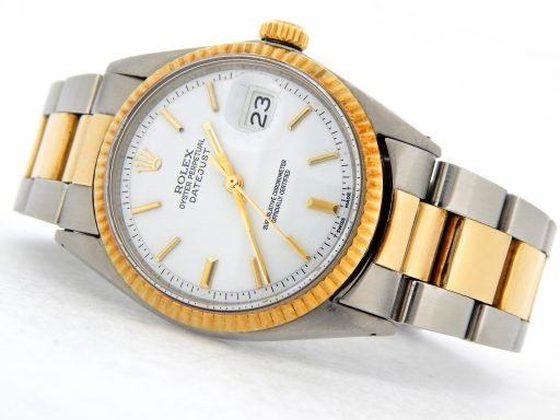 Rolex Two-Tone Datejust 1601 White -8