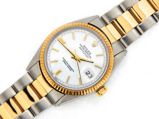 Rolex Two-Tone Datejust 1601 White -7