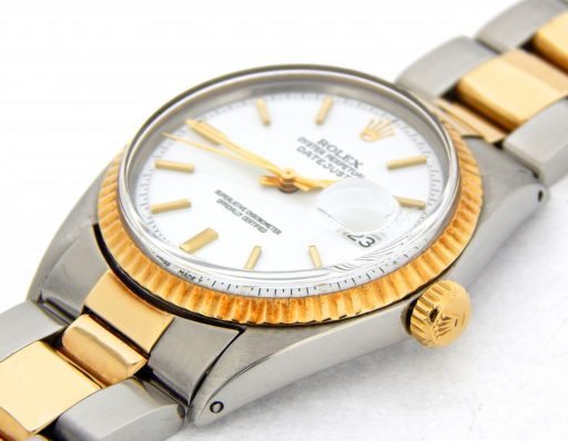 Rolex Two-Tone Datejust 1601 White -6