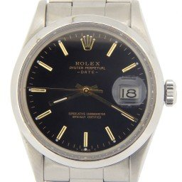 Mens Rolex Stainless Steel Date Black  15000