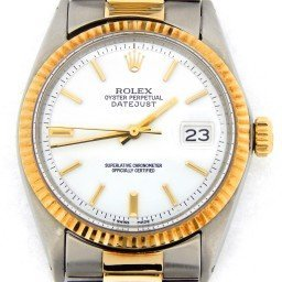 Mens Rolex Two-Tone 14K/SS Datejust White  1601 (SKU 2149812BCMT)
