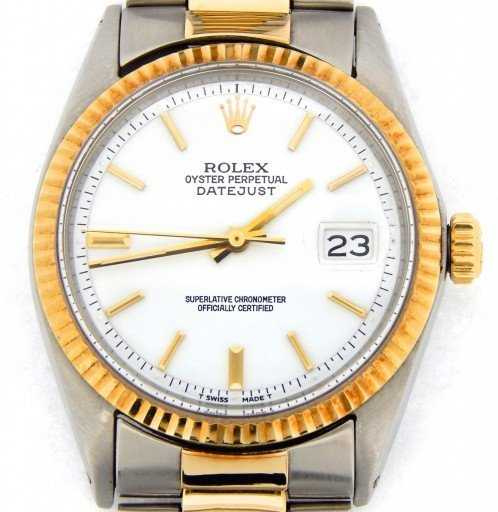 Rolex Two-Tone Datejust 1601 White -1