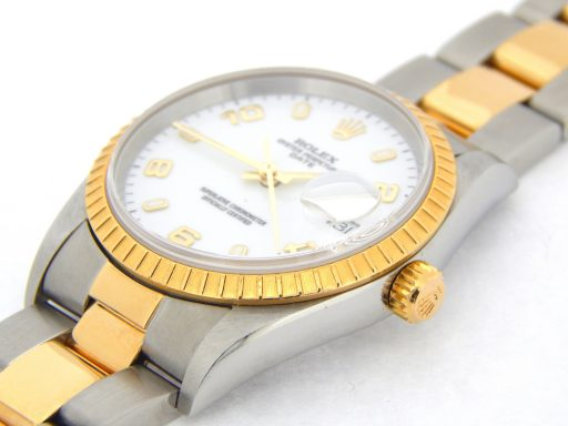 Rolex Two-Tone Date 15223 White Arabic-7