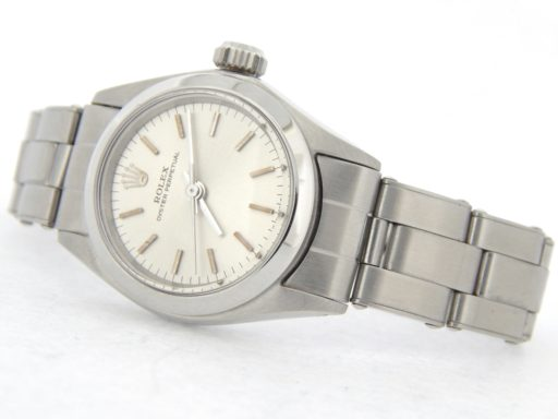Rolex Stainless Steel Oyster Perpetual 6618 Silver -8