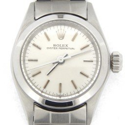 Ladies Rolex Stainless Steel Oyster Perpetual Silver  6618