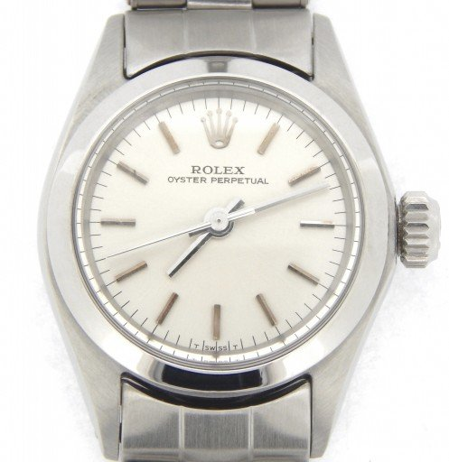 Rolex Stainless Steel Oyster Perpetual 6618 Silver -1