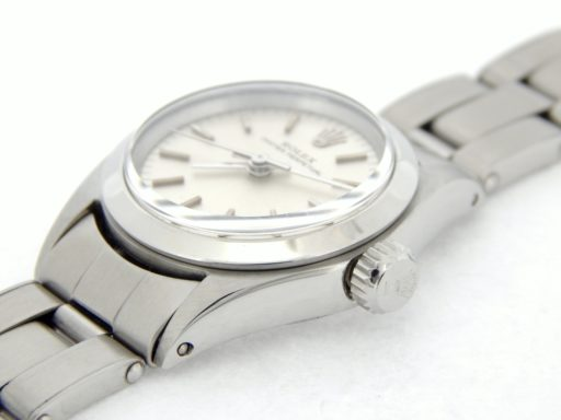 Rolex Stainless Steel Oyster Perpetual 6618 Silver -6