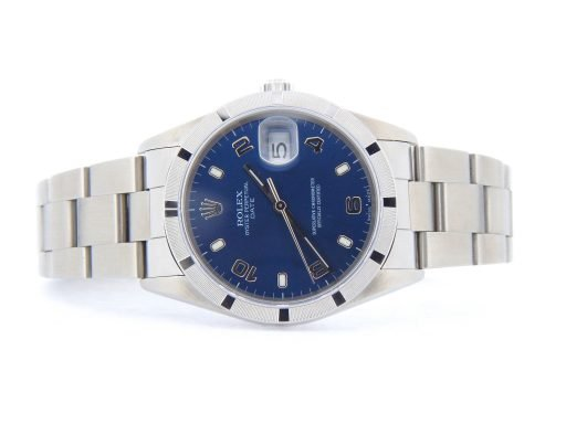 Rolex Stainless Steel Date 15210 Blue Arabic-7