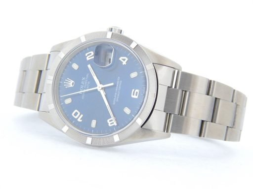 Rolex Stainless Steel Date 15210 Blue Arabic-8