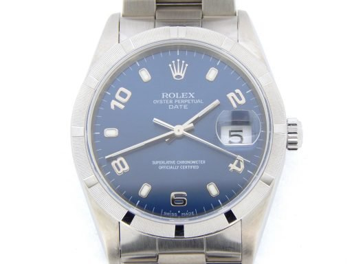 Rolex Stainless Steel Date 15210 Blue Arabic-1