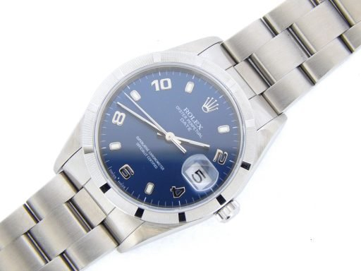 Rolex Stainless Steel Date 15210 Blue Arabic-9
