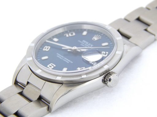 Rolex Stainless Steel Date 15210 Blue Arabic-6