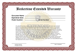 Extended Beckertime Warranty