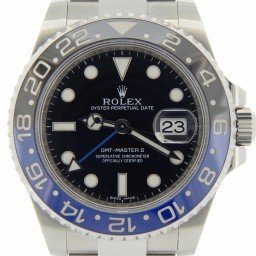 Mens Rolex Stainless Steel GMT Master II Black & Blue Batman  116710 (SKU 116710BLNRNNMT)