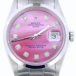 Mens Rolex Stainless Steel Date Pink MOP Diamond 15200 (SKU E776176MT)