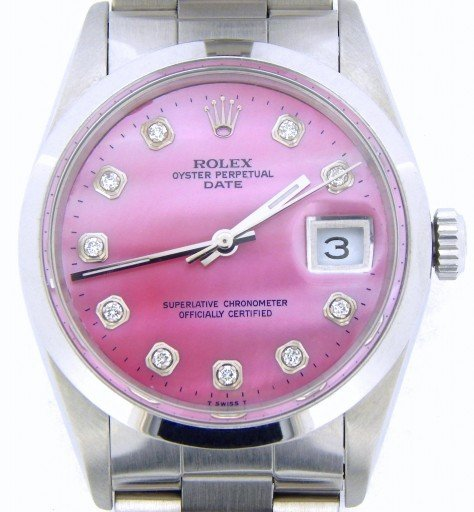 Rolex Stainless Steel Date 15200 Pink MOP Diamond-1