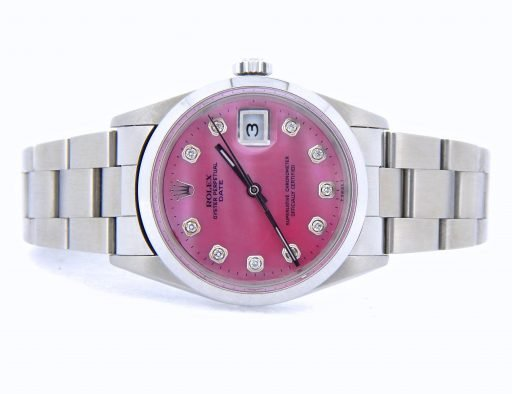 Rolex Stainless Steel Date 15200 Pink MOP Diamond-7