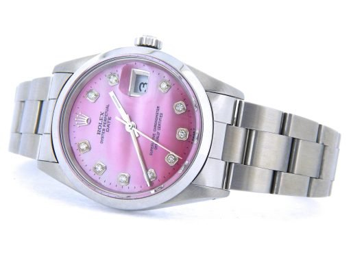 Rolex Stainless Steel Date 15200 Pink MOP Diamond-6