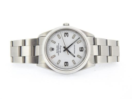 Rolex Stainless Steel Air-King 14000 White-7
