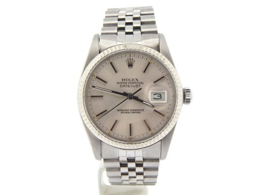 Rolex Stainless Steel Datejust 16014 Silver -6