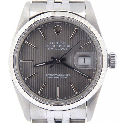 Rolex Stainless Steel Datejust 16014 Slate -1