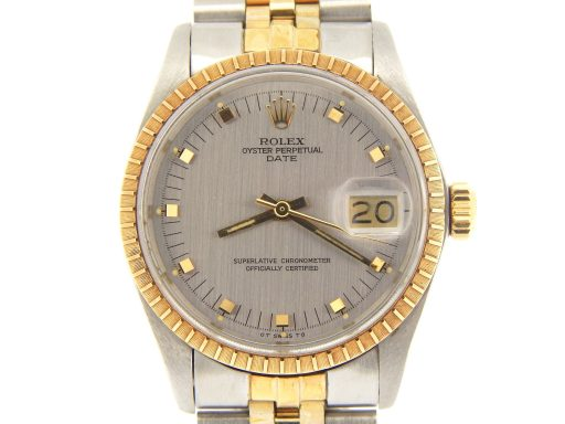 Rolex Two-Tone Date 1505 Gray, Slate -1