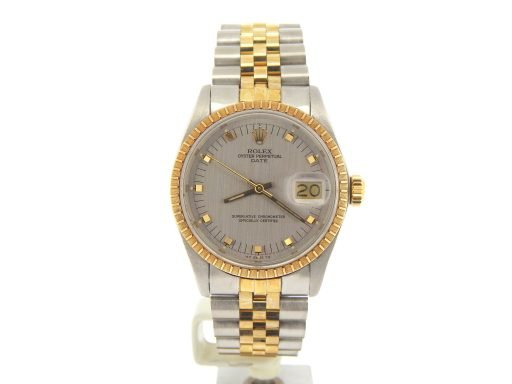 Rolex Two-Tone Date 1505 Gray, Slate -8