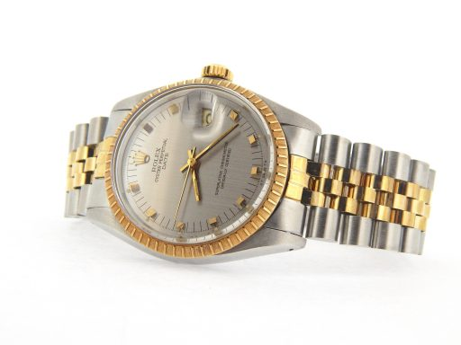 Rolex Two-Tone Date 1505 Gray, Slate -9
