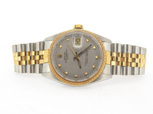 Rolex Two-Tone Date 1505 Gray, Slate -7