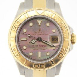 Ladies Rolex Two-Tone 18K/SS Yacht-Master Tahitian MOP  169623