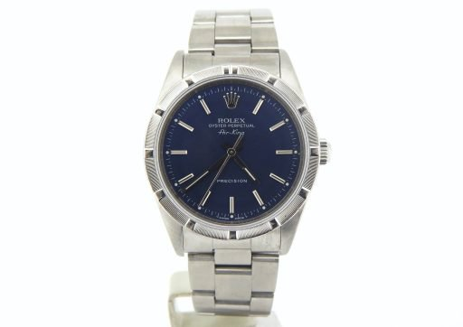 Rolex Stainless Steel Air-King 14010 Blue-8