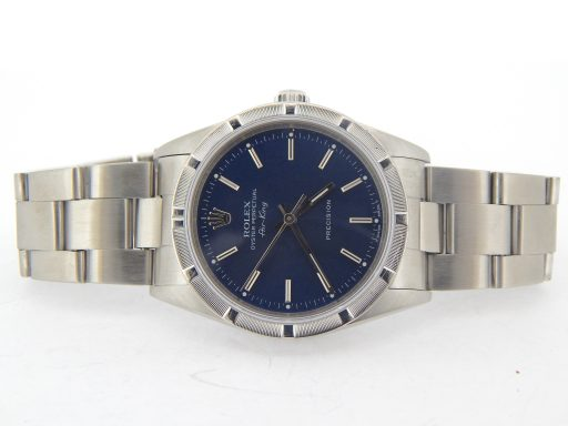 Rolex Stainless Steel Air-King 14010 Blue-6