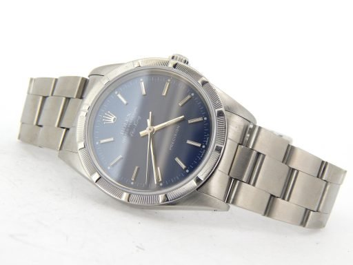 Rolex Stainless Steel Air-King 14010 Blue-7