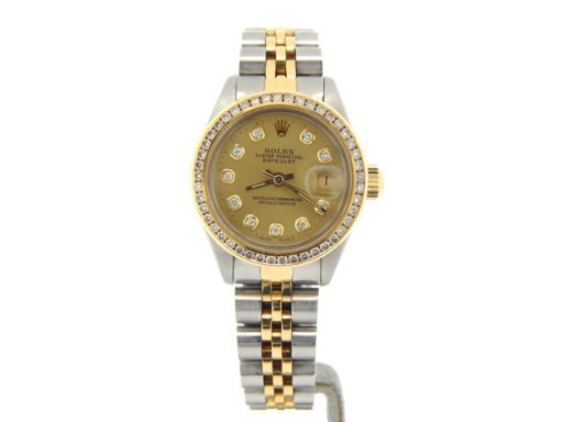 Rolex Two-Tone Datejust 6917 Champagne Diamond-7