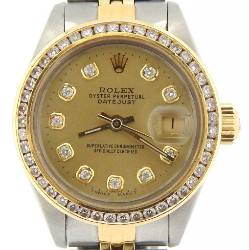 Rolex Two-Tone Datejust 6917 Champagne Diamond-1